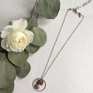 Jewelry - Silver and stone necklace